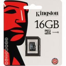 "Карта памяти ""Kingston"" (microSD HC 16 ГБ, Class 10)"