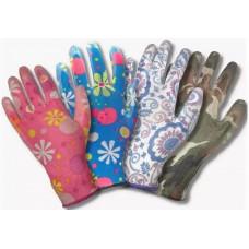 Перчатки из цветного нейлона с полиуретановым покрытием