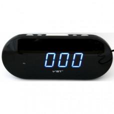 """Настольные часы будильником от сети с синей подсветкой """"VST-715-5"""""""
