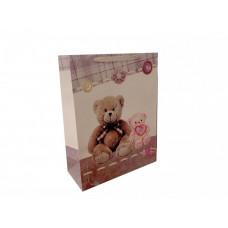 """Пакет подарочный """"Мишки"""" (43*55*18 см)"""