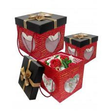 """Набор коробок """"3 Сердце"""" (18*18*18 см)"""
